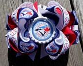 Toronto Blue Jays inspired hair bow. Ott.