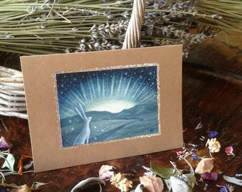The Path ahead.  Greeting Card with Envelope