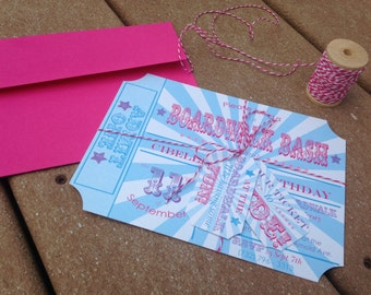At the Boardwalk Carnival Party Invitation Save the Date set of 10 by Belleza e Luce