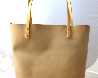Leather Carry-All - Gentleman Tote