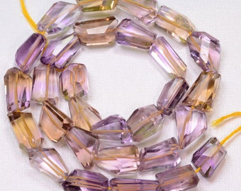 297CT Ametrine Faceted Nuggets Beads 18.5 inch strand