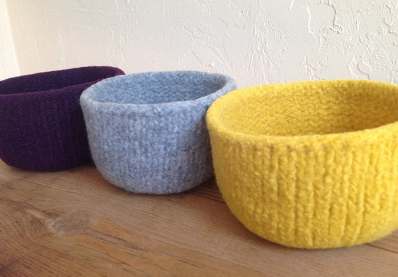 Pick Three Felted Treasure Bowl Holiday Sale