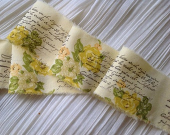 VINTAGE FRENCH COLLECTION - Yellow Roses - French Script Sentiment