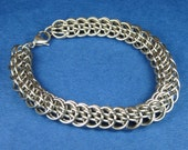 Stainless Steel Double Half Persian Weave Chainmaille Bracelet