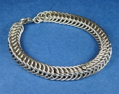 Stainless Steel Half Persian 5 in 1 Weave Chainmaille Bracelet