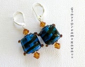 Dark Aqua Dangle Earrings...