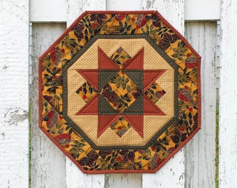 Quilted Star Table Topper - Fall Leaves (TGTTT)