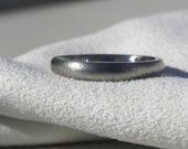 Titanium Ring or Wedding Band Narrow Domed Profile Burnished Finish