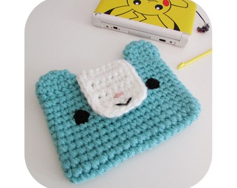 Kawaii adorable 3DS XL or vita bear sleeve/case - custom made in any color