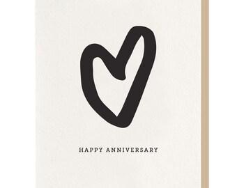 Letterpress 'Anniversary' card