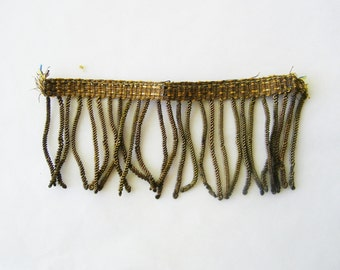 Vintage Boullion Fringe Trim 4 Inches