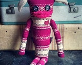 """Sweater Monster """"Petey"""" - One Of A Kind / Eco Friendly / Reclaimed / Upcycled Stuffed Animal"""