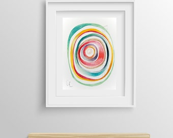 Abstract Painting Giclee Print nº 18, Fine Art Print, Watercolor print, Abstract art, Original Painting, Giclee art print, 8x12,12x16,16x24