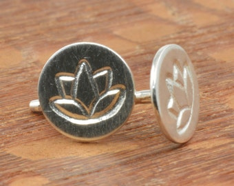Lotus Studs in Sterling Silver