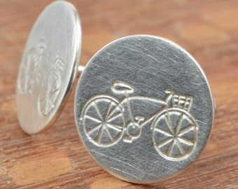 Bicycle Studs in Sterling Silver
