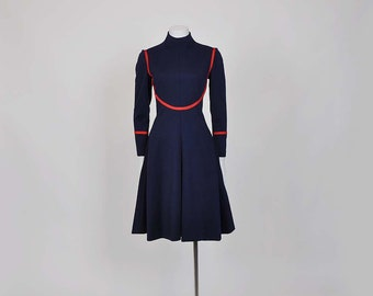 1960s dress / Vintage Geoffrey Beene 60's Mod Designer Dress
