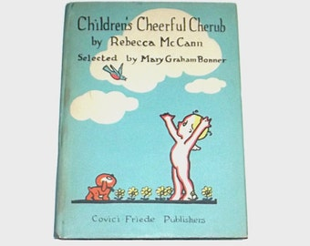 1930s children's book / 30s antique book / Children's Cheerful Cherub Storybook