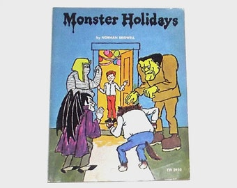 1970s children's book / 70s picture book / Monster Holidays Children's Book
