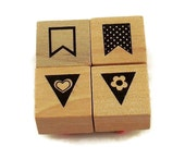 Mini  Rubber Stamp Set  - Pennant Set