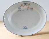 Vintage Bluebird Platter • Chippy Shabby Transferware Platter
