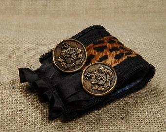 Leopard print cuff bracelet