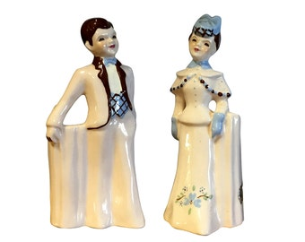 1950s Planter Set, Florence Ceramics, Vintage California Pottery, Man and Woman in Love