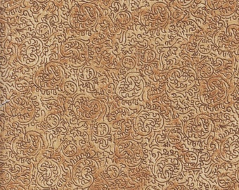 Quilting Treasures Classic Remington 24063 A Brown Vine Swirls by the yard