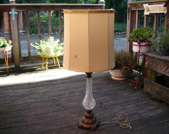 Vintage Stiffel Lamp Hollywood Glam Hollywood Regency Mid Century Modern Stiffel Brass And Crystal Lamp 1960s
