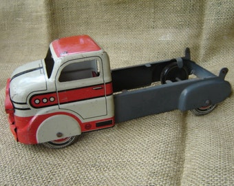 Vintage Marx Toy Truck Tin Litho Toy Truck Farmhouse Chic 1950s