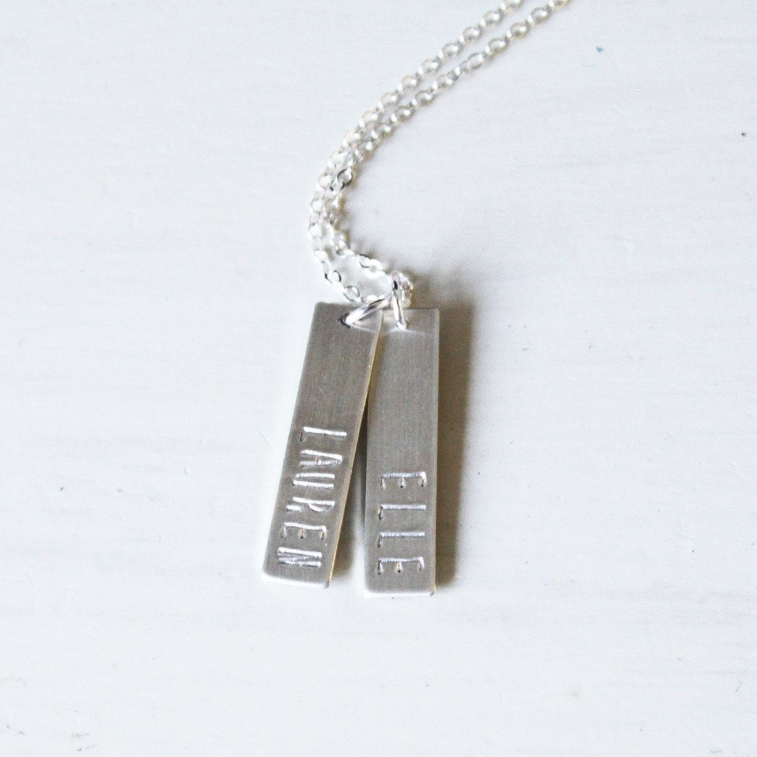custom name necklace 12 or 3 personalized bar necklace