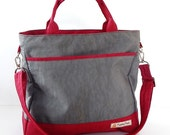 Sale - Grey Water-Resistant bag - Shoulder bag, Messenger bag, Tote, Travel bag, Diaper bag, Crossbody, Women - CINDY