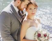 Burgundy / Wine Wedding Bouquet - sola flowers - choose colors - bridal bouquet - Alternative -Custom - bridesmaids bouquet