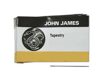 John James English Tapestry Needles 43368 , Size 28 Tapestry Needles, Blunt Needles, Bulk Pack Beading Needle, John James Needle L3904