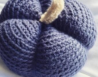 Blue Crochet Pumpkin