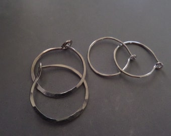 Small Sterling Hoops