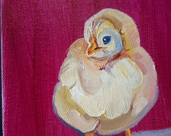 Baby Chicks, Yellow Peeps, baby chickens, baby peeps, chicken painting,