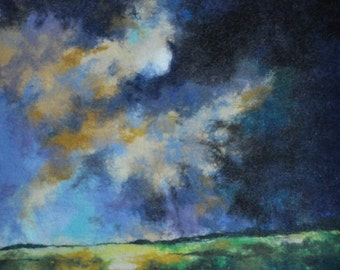 Felted picture. CLOUDS. OOAK.