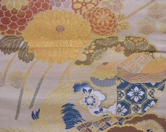 Maru obi S69, beige, yellow