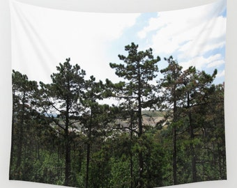 Forest Wall Tapestry, Trees Tapestry, Nature Home Decor, Scenic Tapestry, Wall Tapestries, Whimsical Tree Branches, Woodland,Woods,Pine Tree