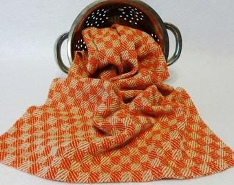 Handwoven Cotton/Linen Towel for Kitchen & Bath -  Red Check Towel - Handtowel, Kitchen Towel, Handwoven Towel, Tea Towel