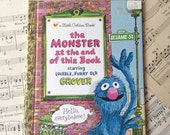 Golden Book Journal No. 060 Monster End of Book-Made Just for YOU! Golden Book Journal with Hand Torn 140lb Cold Press Watercolor Paper