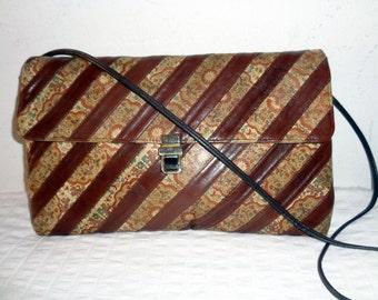 Robert Bastien Originals genuine leather ex large clutch pocketbook bag purse evening bag vintage 70 s absolutely unique  rare and awesome