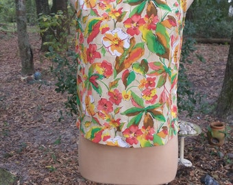 Vintage 60s Lucia Floral Sleeveless Top