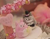 totoro cake topper---Custom Order Deposit for the lovely Wedding Cake Topper (K119)