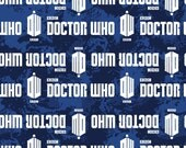 Doctor Who BBC Logo Fabric in stock and ready to ship