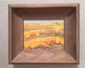 Framed Original Landscape Oil painting Impressionistic wall art by Paige Smith-Wyatt