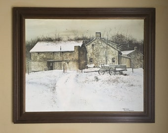 """Framed giclee on canvas, """"Deep Winter"""", signed, titled lower right Frank M. Hamilton"""
