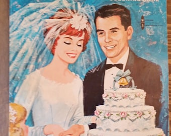 Vintage Wedding Bells Coloring Book..1964 Americana Old Fashioned Romance, Altered Art, Mixed Media, Paper Ephemera, Bridal Wedding Gift
