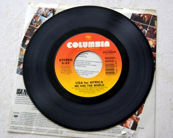 We are the World 45 record in Original sleeve