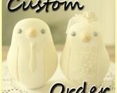 Custom Order Wedding Cake Topper - For GingAlinG2